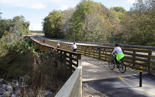 Bikers on the Capital Trail