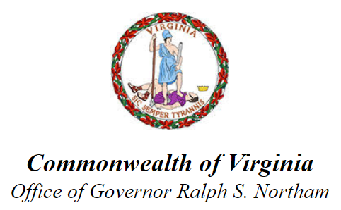From the Office of Governor Ralph S. Northam