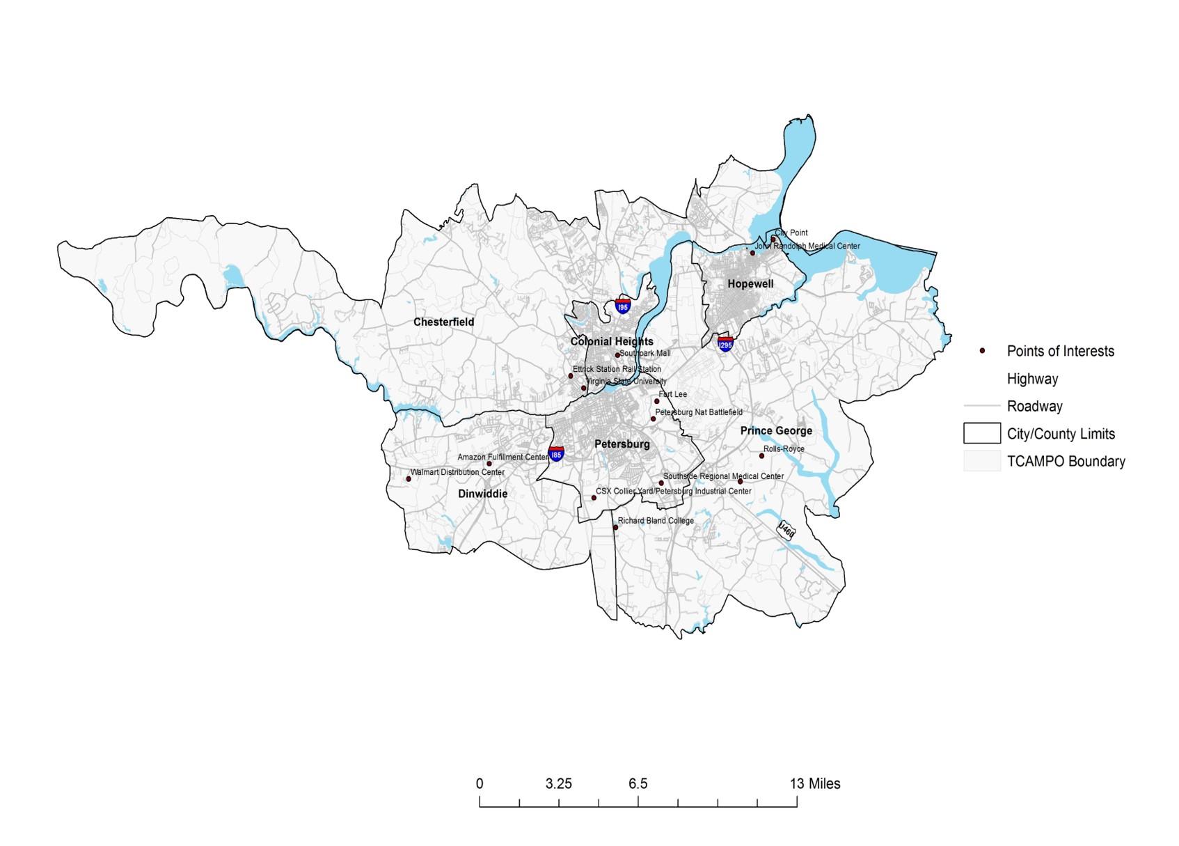TCAMPO Map