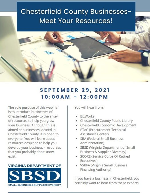 Chesterfield County Businesses – Meet your Resources