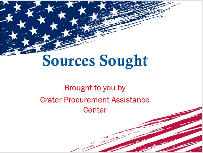 Sources Sought – Your Opportunity to Market to the Federal Government Webinar